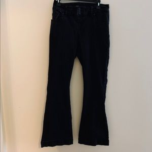 Torrid plus size black flair jeans